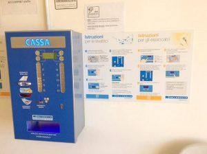 Cassa automatica e distributore di card Lavboat Ostia